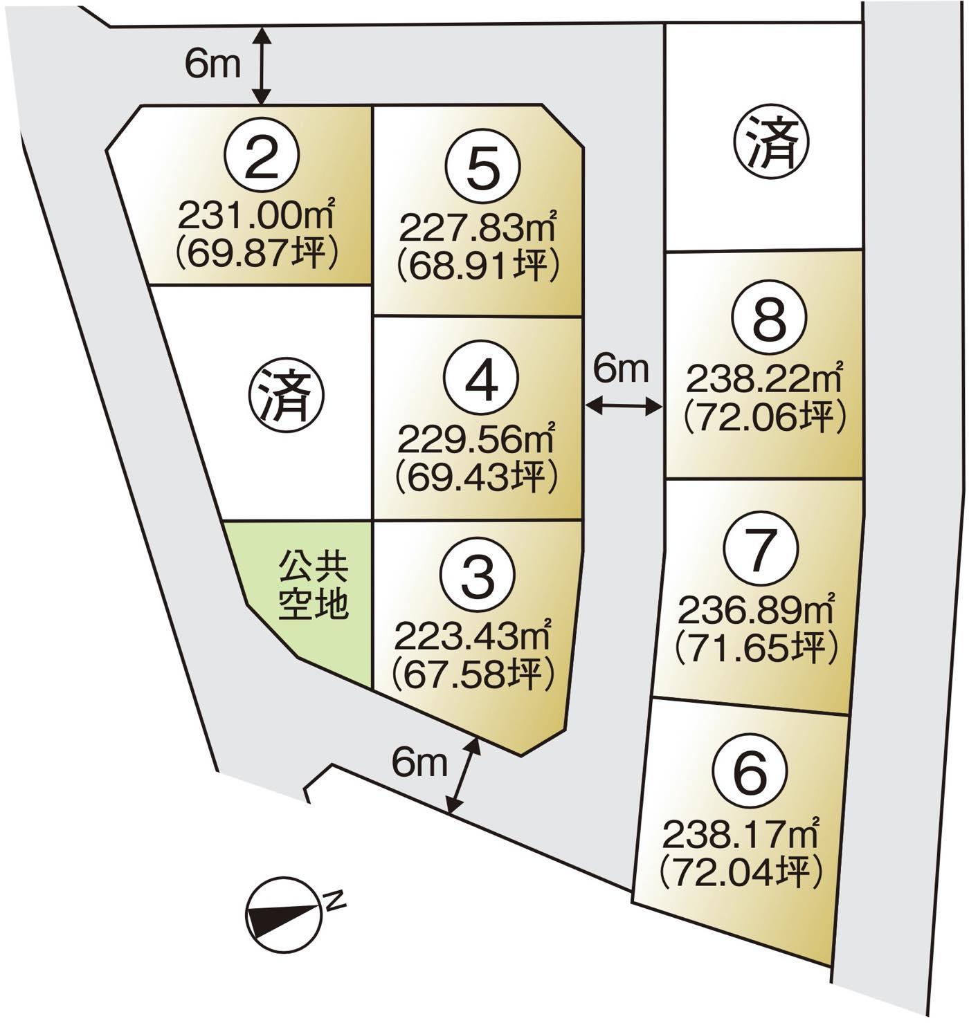 越前浜区画図